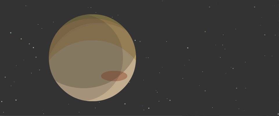 Jupiter drawn with ActionScript3's Graphics class and a mask